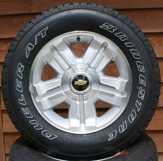 Chevy Silverado Tahoe 18 Z71 Wheels with Bridgestone Dueler P265 65R18