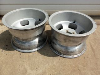 15x10 Ansen Sprint Gasser Rims Hot Rod Rat Rod Slots Drag Mag Wheels