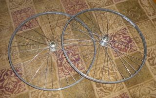 Vintage Campagnolo Super Record HUBs 36 holes 3X Ambrosio Synthesis