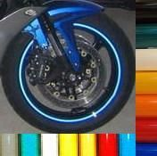 Blue Reflective Motorcycle Rim Stripe Wheel Decal Tape