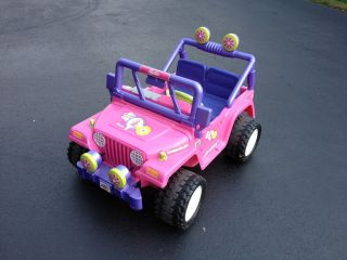 Fisher Price Power Wheels Barbie Jammin Jeep Wrangler