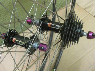 Bullseye wheelset 7 speed Matrix Mt titan rims wheel hub ringle bmx