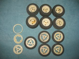 Vintage Original Team Associated RC10 Rims and Tires Lot