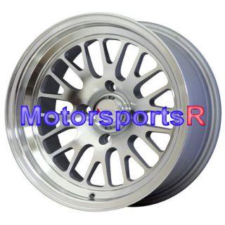 XXR 531 Machine Silver ET 0 Wheels Rims Deep Dish Lip Datsun 240z 280z