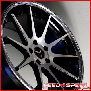 Benz W211 E350 E550 Euromag EM10 Concave Staggered Wheels Rims