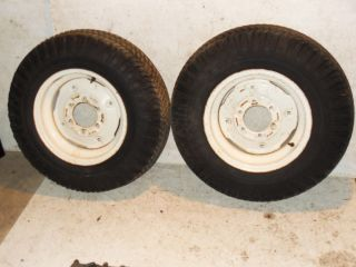 Case Ingersoll Rear Wheels Tires 8 16 16 inch 444 446 Power King