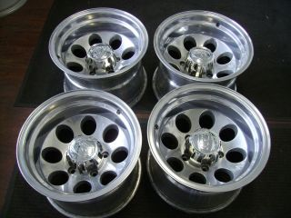 Dodge 15x10 Polished Alloy 5x5 5 Bolt Aftermarket Wheels Rims