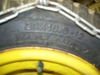 John Deere Cub Simplicity Tire Chains 23 in Rims