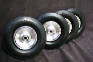 New Real Rubber Firestone Wheels Tires Midget Indy Tether Race Car