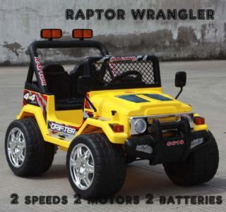 on R C Car Remote Control Battery Wheels MP3 RC Raptor Wrangler