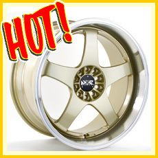 17 17x7 4x100 4x114 3 40 GOLD WHEELS RIMS CIVIC 240SX CIVIC INTEGRA XB