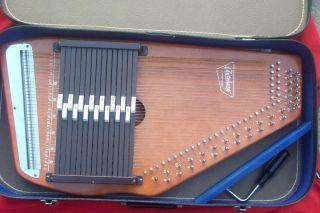 Oscar Schmidt Vintage Autoharp String Case Nice