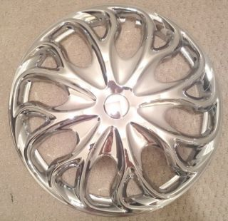 Piece Set Chrome 15 inch Hub Caps Rim Wheel Covers