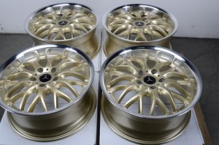 Rims Gold Mercedes Benz S430 E320 E Class CLK SLK Passat Jetta Wheels