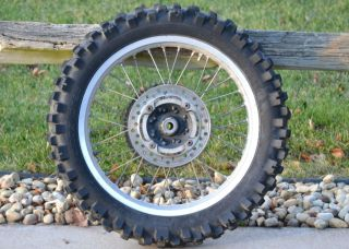 CR250 CR 250 Stock Strait Rear Back Wheel Rims Hub Tire Spokes
