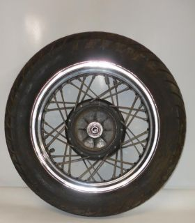 Used 1988 Yamaha Virago 250 XV250 Part Rear Wheel Rim with Tire
