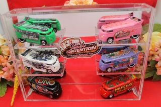 Las Vegas Hall of Fame Hot Wheels VW Drag Bus 6 Bus Set RARE