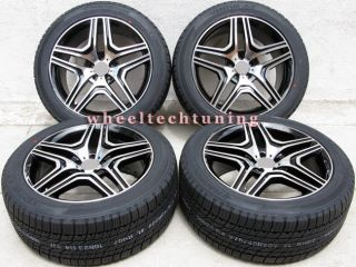 BENZ WHEEL AND TIRE PACKAGE   RIMS FIT ML350, ML500 AND ML550 BLACK