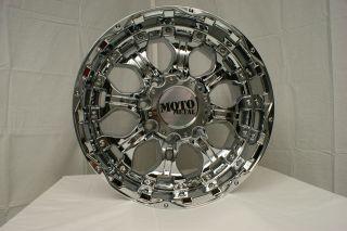 18 x10 Moto Metal MO959 Chrome 5 6 8 Lug Wheels Rims Free Lugs