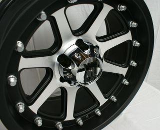XD798 Addict Black Machined 5 6 8 Lugs Wheels Rims Free Lugs