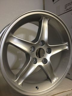 Silver Ford Mustang Cobra R Factory OE replica Wheels Rims 17x9 5x4 5