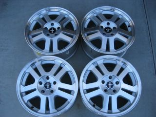 FORD MUSTANG GT OEM MACHINE FINISH ALLOY 17 WHEELS RIMS SHELBY ROUSH