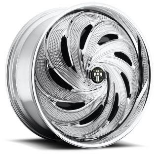 Spin Flo Wheel Set Chrome Spinner 26x10 rwd 5 6 Lug Rims 26inch