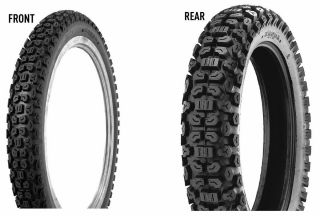New Kenda 2 75 21 4 10 18 K270 Tire Set for Kawasaki KL250G Super
