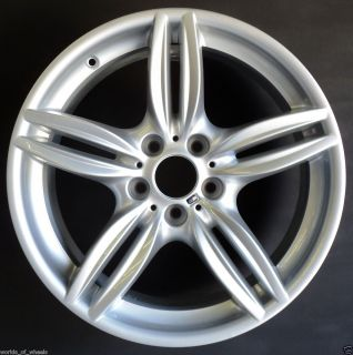 2011 19 BMW M5 5 Double Spoke Front Factory Wheel Rim H 71414