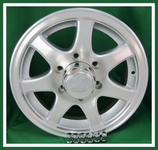 15 Clear Coated Aluminum 7 Spoke Trailer Rim Wheel