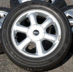 Set of 4 Mini Cooper 15 Wheels Rims Continental Tires