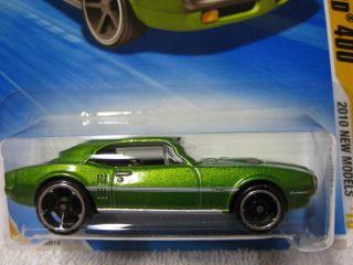 Hot Wheels 67 Pontiac Firebird 400 GREEN Car 2010 New Models Series 3