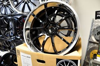 Yokohama Advan RSD 20x9 0 20x10 5 JDM Wheel Glossy Black 3 Polish Lip