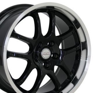 Black Infiniti G35 Spoke Wheels Staggered Rims Fit Infiniti