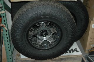 Moto Metal wheels and 5 Nitto Dune Grapplers Jeep TJ YJ LT315 70R17