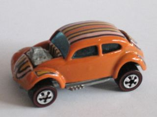 HOT WHEELS RED LINE flying colors CUSTOM VW orange (yellow black white