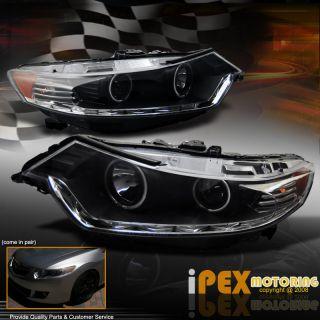 Acura TSX ULTRA BRIGHT CCFL HALO RIM R8 LED/SMD DRL head light Lamps