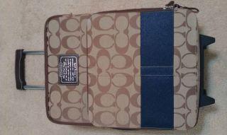 Signature Canvas Travel Luggage Suitcase Wheels AUTHENTIC Suit Case