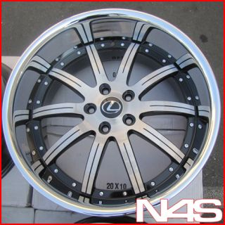 Roderick RW3 Machined Concave Lexus SC430 Staggered Rims Wheels
