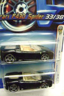 2006 FE Hot Wheels Black Ferrari F430 Spider RARE Barbie Pink Interior