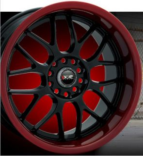 18 x7 5 XXR 006 Wheels Black Red Lip Rims 5x100 5x114 3 5x4 5 Honda
