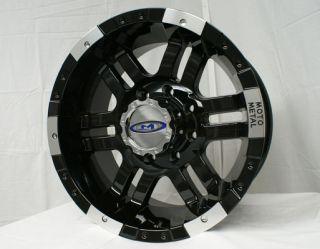 Moto Metal MO951 Gloss Black Machined 5 6 8 Lug Wheels Rims Free Lugs