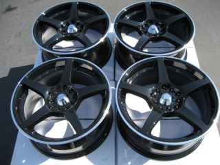 5x114 3 Black Effect Wheels Civic Accord Eclipse WRX Impreza CRV Rims
