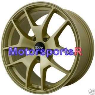 18 XXR 518 Gold Wheels Rims 09 VW Passat CC 08 Audi A4