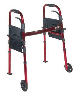 Lightweight Rollator Folding Rolling Walker 5 inch Wheels