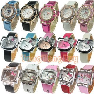 Cute Woman Girl Lady Kitty Cat Sports Watch Quartz Wristwatch 20