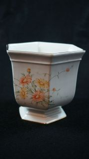 Royal Winton Staffordshire England Footed Planter Flowers and Gold Rim