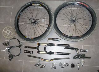 Mountin Bike Build Kit s Works Enduro Parts Fox Rock Shox SRAM X0 King