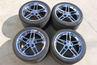 Corvette C6 Z06 Chrome 19 18 Wheels Tires Used GM Goodyear
