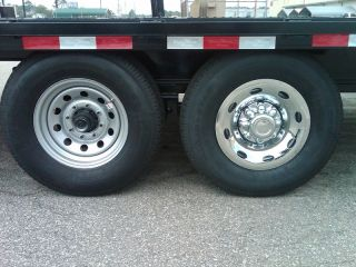 16 Chrome Trailer Wheel Hub Cap Rim Covers 2 Piece